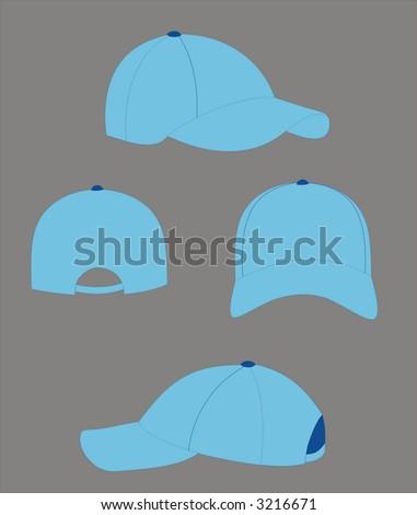 vectorial cap design - stock vector