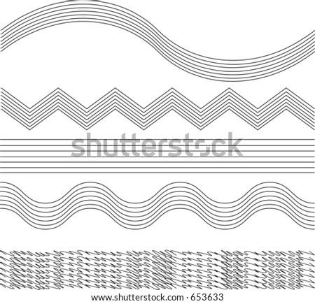 vectorized decorative border - stock vector