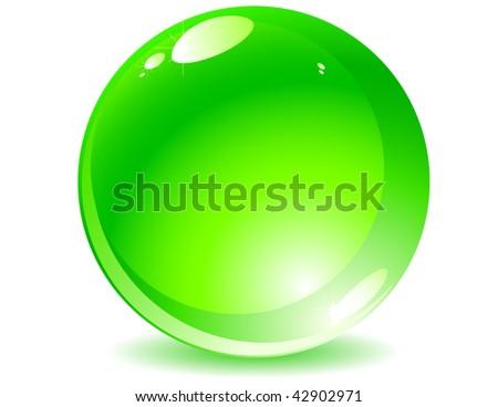 Vectot of green shiny sphere - stock vector
