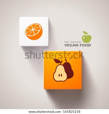 Vegan food concept. Eps10 vector - stock vector