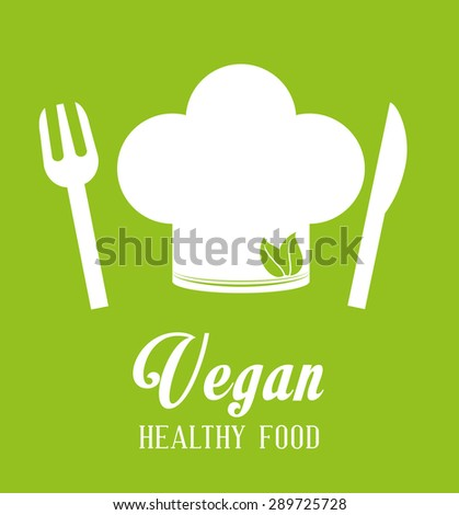 Vegan Food digital design, vector illustration eps 10.