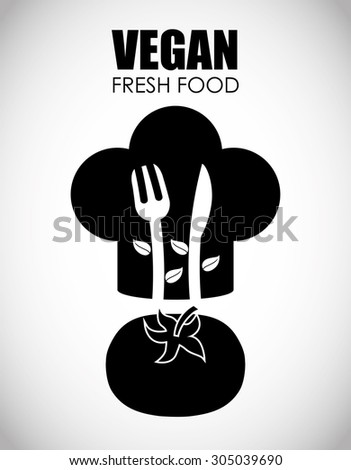 Vegan Food digital design, vector illustration 10 eps graphic