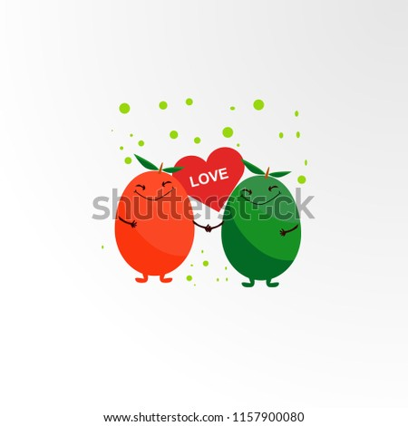 vegetable and fruit lover logo concept, logo, sign, symbol or mark for drink, nature, food, agriculture company. vector logo design