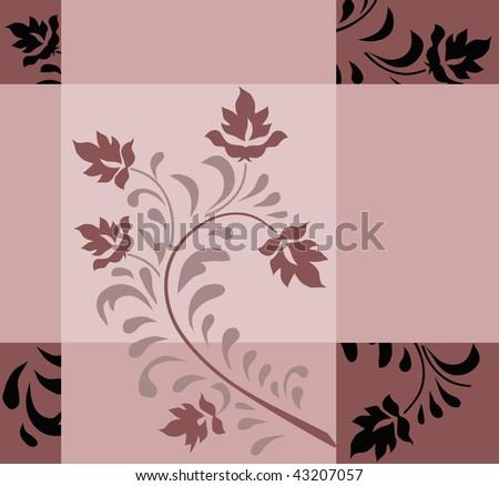 Vegetable modern pattern - stock vector