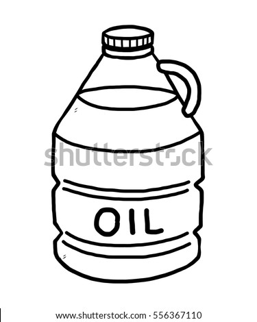Vegetable Oil Cartoon Vector Illustration Black Stock Vector ...