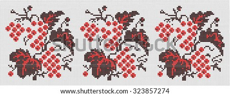 Vegetable ornament in the Ukrainian style - stock vector