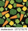 vegetable pattern design. vector illustration - stock vector