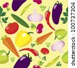 Vegetable Seamless Pattern - stock photo