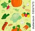 Vegetable seamless pattern - vector illustration - stock vector