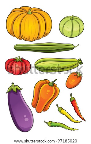 Vegetables Collection - stock vector