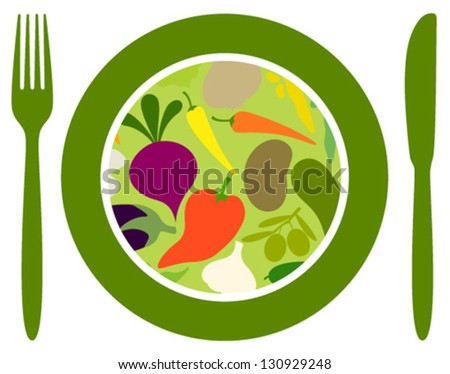 vegetables food icon - stock vector