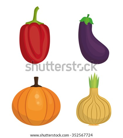 Vegetables healthy food colorful graphic design, vector illustration
