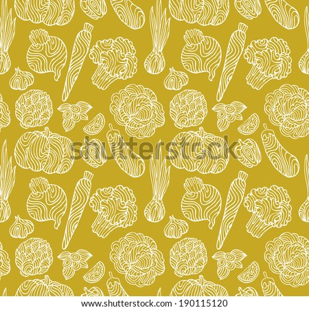 Vegetables Pattern - stock vector