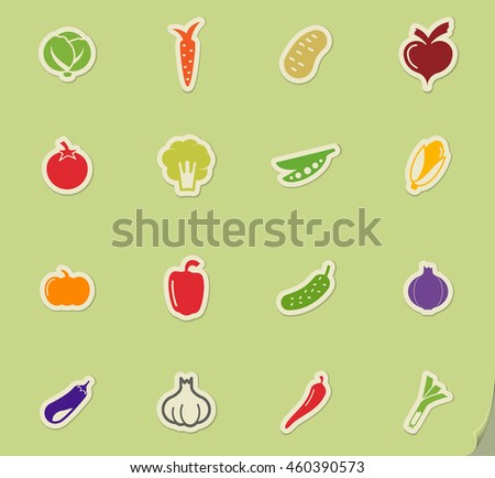 Vegetables simply icons for web and user interface