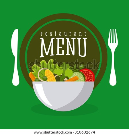 vegetarian food design, vector illustration eps10 graphic  - stock vector