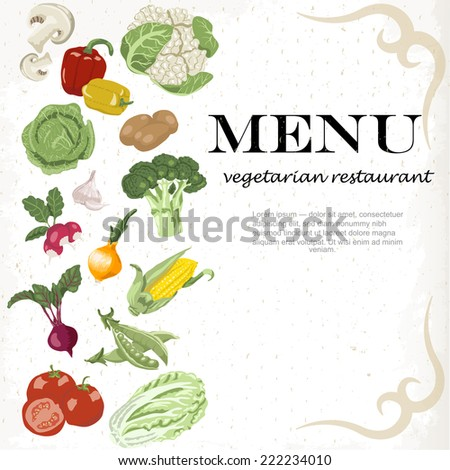 Vegetarian meals are available. Vegetable background.