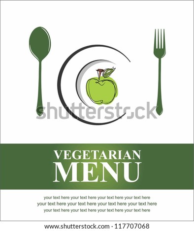 Vegetarian menu - stock vector