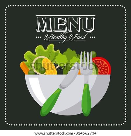 vegetarian menu design, vector illustration eps10 graphic  - stock vector