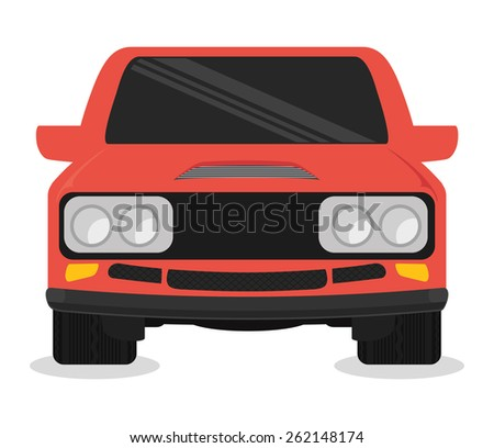Vehicle design over white background, vector illustration.
