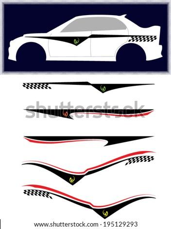 Car Sticker Stock Images RoyaltyFree Images  Vectors Shutterstock - Car body graphics for alto