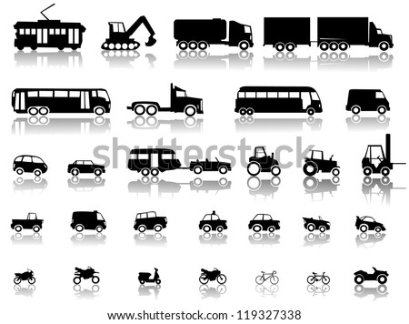 Vehicle symbol set - stock vector