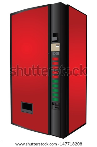 Vending machine for the sale of soft drinks. Vector illustration. - stock vector