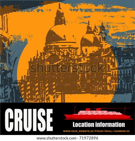Venetian Cruise, Vector background/flyer