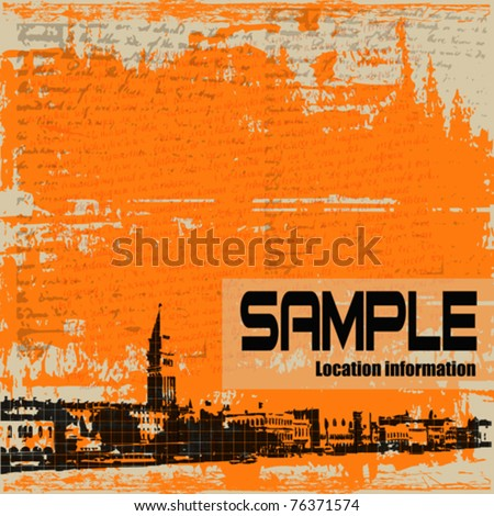Venetian Vintage Vector Background - stock vector