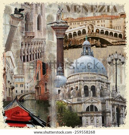 Venice vintage poster. - stock vector