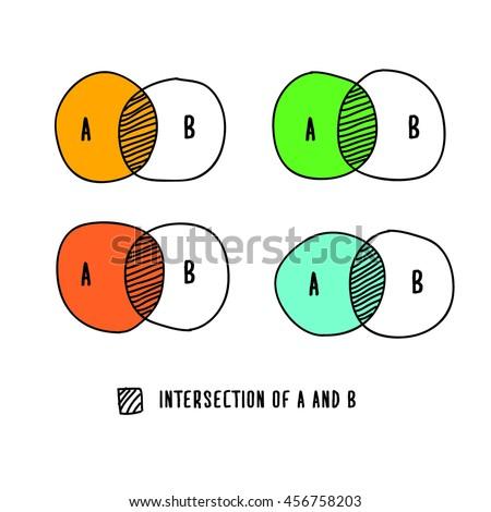venn diagram hand drawn vector illustration stock vector hd royalty rh shutterstock com Golf Cart Vector Golf Vector Graphics