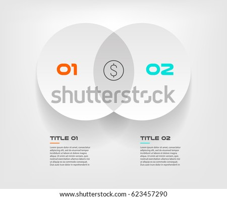 Venn diagram infographics two circle design stock vector 623457290 venn diagram infographics for two circle design vector and marketing can be used for workflow layout ccuart Choice Image