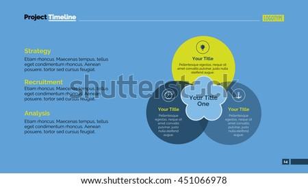 Venn Imitation Slide Template - stock vector