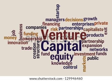 Venture Capital - Elegant Word Cloud - stock vector
