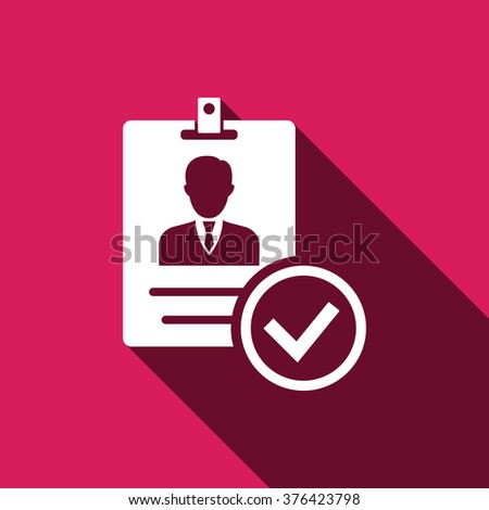 Verified ID icon, Verified ID icon eps10, Verified ID icon vector, Verified ID icon eps, Verified ID icon jpg, Verified ID icon picture, Verified ID icon flat, Verified ID icon app Verified ID icon UI - stock vector