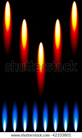 Versatile Cooking with Gas Composition. Another version is available in my portfolio. - stock vector