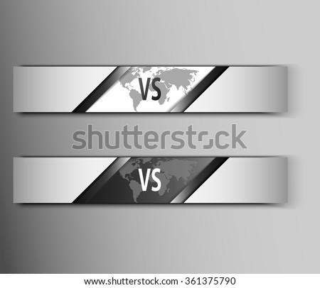 Versus Logo. VS Vector Letters Illustration. Competition Icon. Fight Symbol. - stock vector