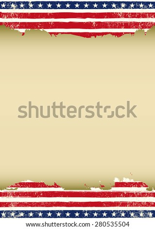 Vertical American dirty flag. A vertical American background for your publicity - stock vector