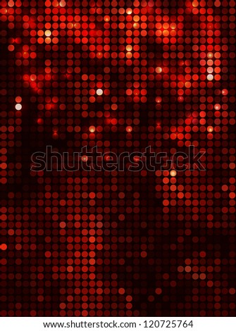 Vertical black red  mosaic - stock vector
