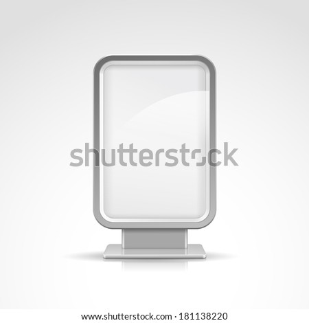 Vertical Blank Outdoor Billboard with Place for Message - stock vector
