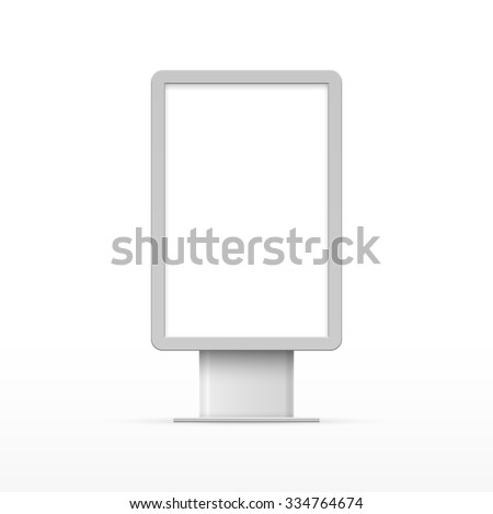 Vertical blank outdoor Lightbox - stock vector