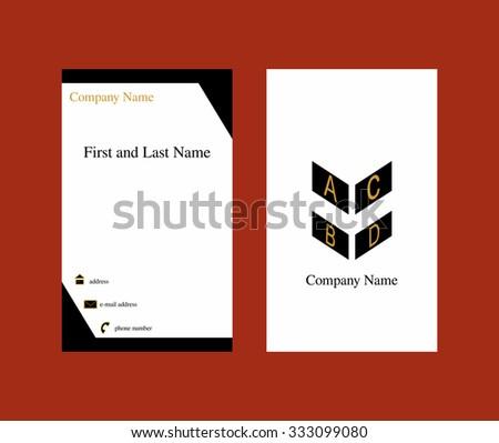 Vertical business card geometric logo stock vector 333099080 vertical business card with geometric logo reheart Gallery