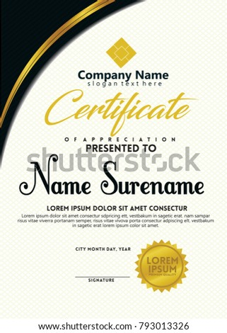 Vertical certificate layout design template futuristic stock vertical certificate layout design template with futuristic style a4 size yadclub Gallery