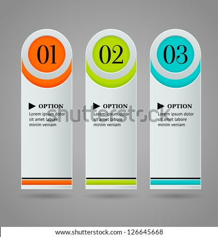 Vertical colorful options banner template. Vector illustration - stock vector