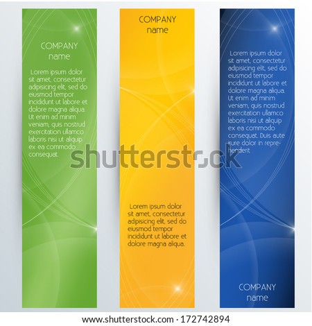 Vertical Corporate Banners - Vector EPS10 - stock vector
