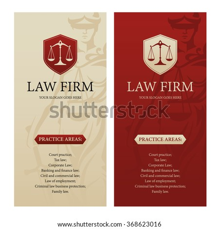 Vertical Design Template Law Office Firm Stock Vector