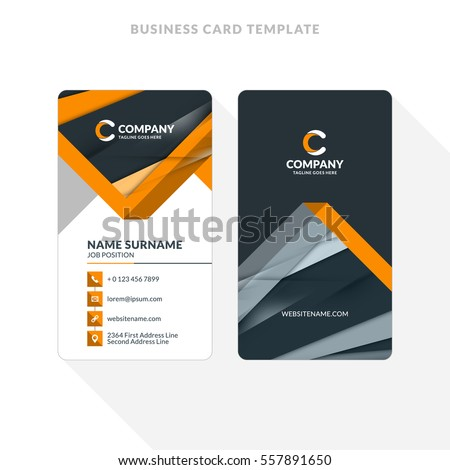 Vertical doublesided business card template abstract stock vector vertical double sided business card template with abstract background vector illustration stationery design colourmoves