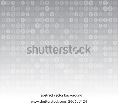 vertical grey background with many circles - stock vector