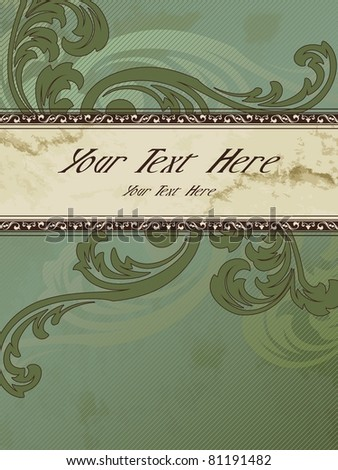 Vertical grungy Victorian vintage banner (eps10); jpg version also available - stock vector
