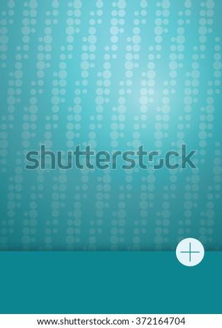 Vertical monochrome vector background, material design, A4 - stock vector