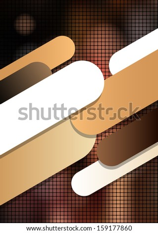 Vertical mosaic brown background with graphic elements. Vector version. - stock vector